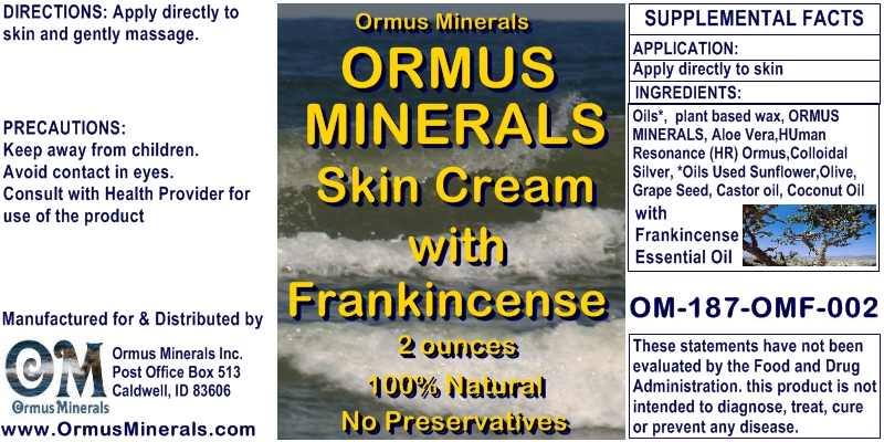 Ormus Rich Mineral Skin Cream with Frankincense
